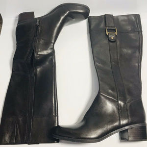 Bandolino Tall Brown Leather Riding Boots Sz 7.5